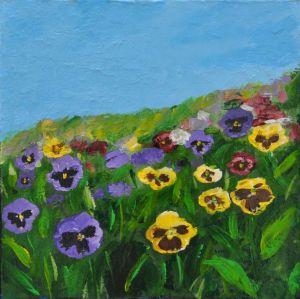 Spring Flowers 3 18x18
